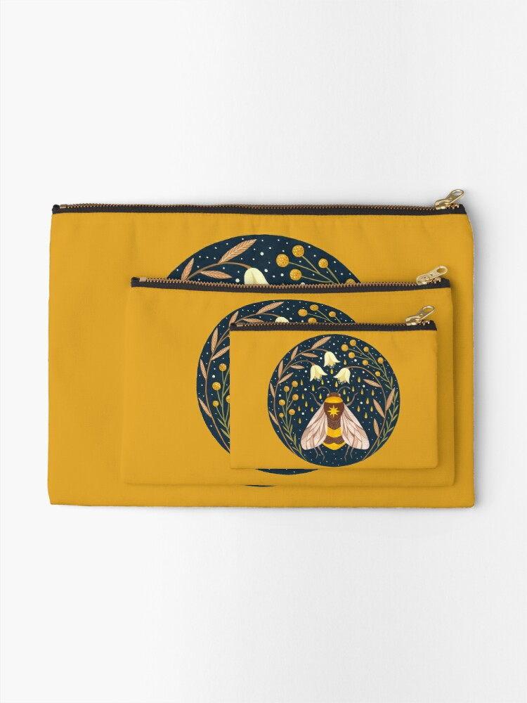 Alternate view of Harvester of gold Zipper Pouch