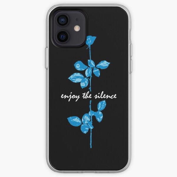 Enjoy The Silence - Blue iPhone Soft Case