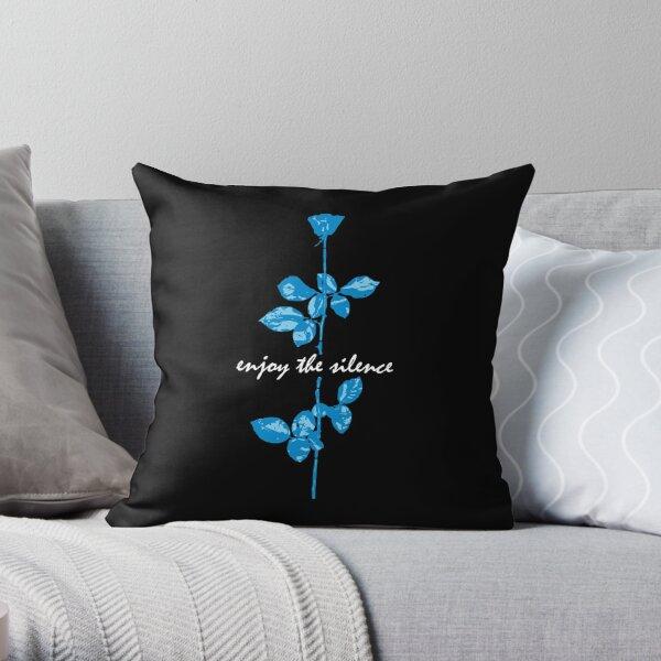 Enjoy The Silence - Blue Throw Pillow