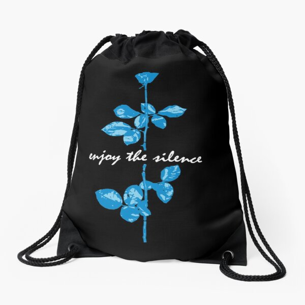Enjoy The Silence - Blue Drawstring Bag