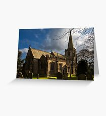 St Michael's Church in Hathersage Greeting Card
