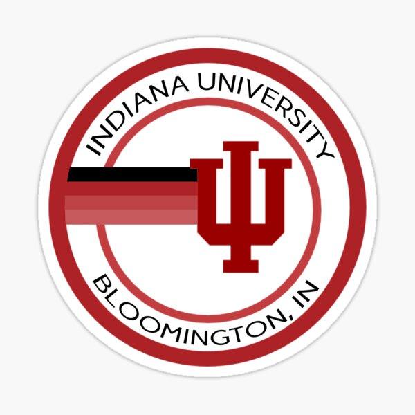 Retro Indiana University Circle Sticker Sticker