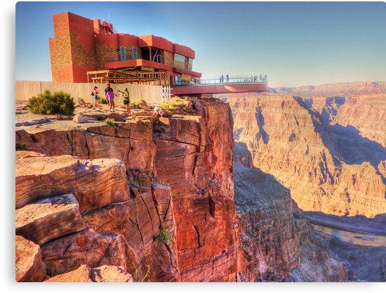 Grand Canyon Skywalk Metal Print By Chris Brunton