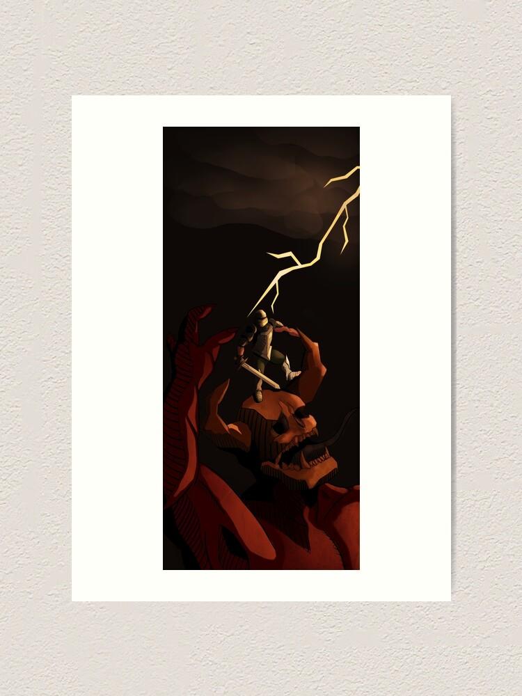 Medieval Demon Slayer Doom Eternal Fan Art Print Art Print By