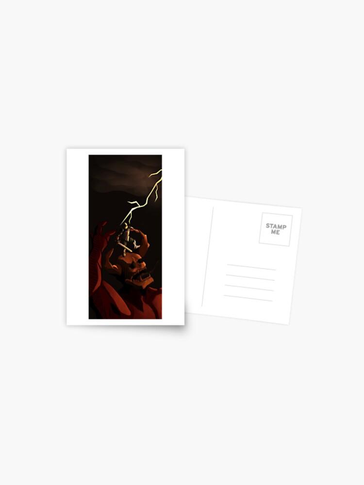 Medieval Demon Slayer Doom Eternal Fan Art Print Postcard By