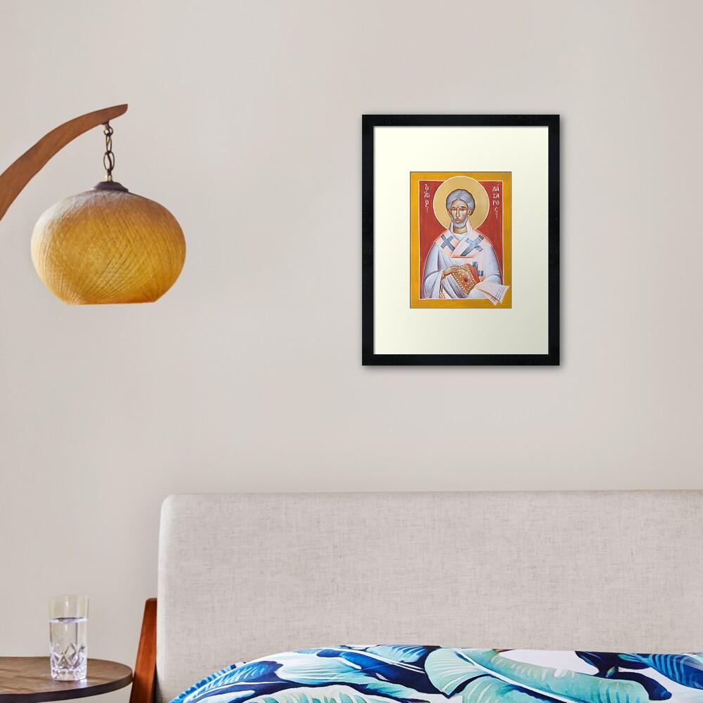 St Lazarus Framed Art Print