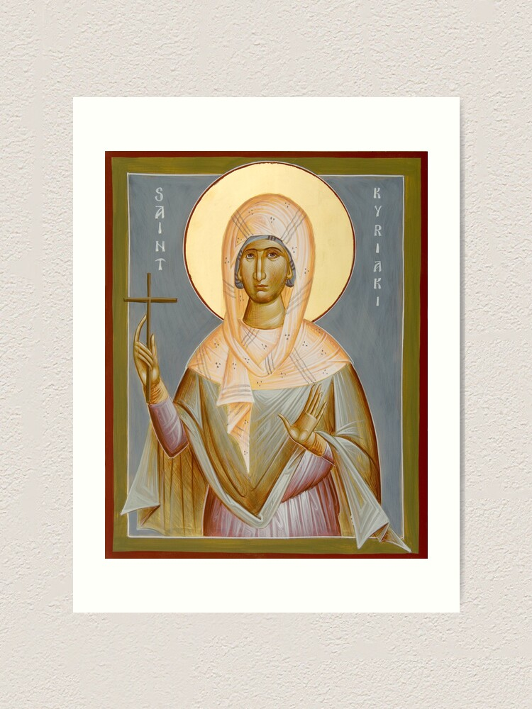 Alternate view of St Kyriaki Art Print