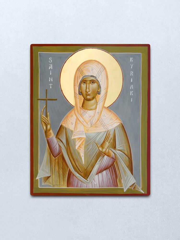 Alternate view of St Kyriaki Metal Print