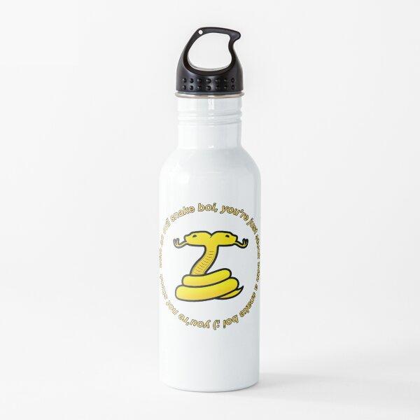Snake Boi Quote Botella de agua