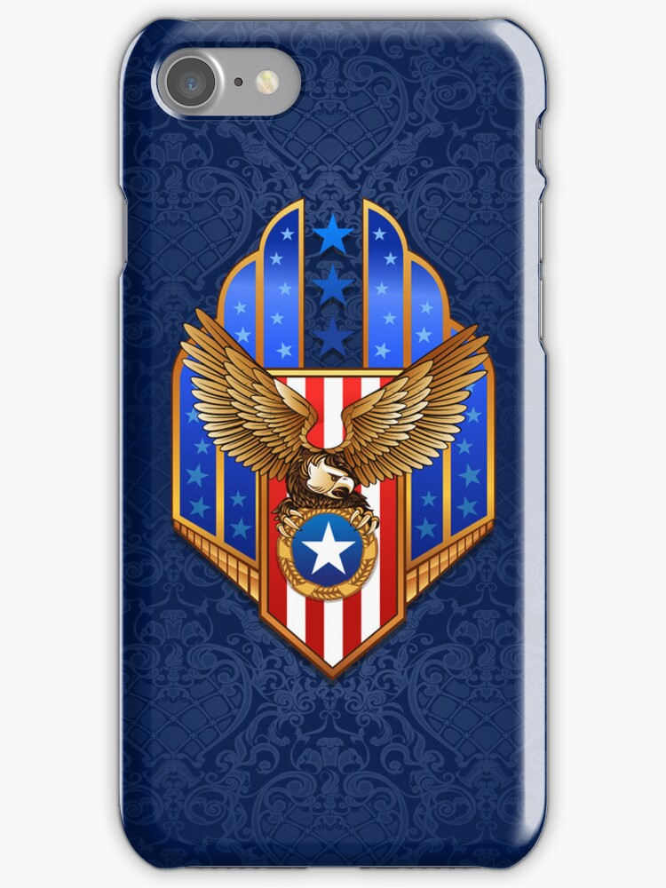 Patriotic Eagle Shield iPod / iPhone 5 Case / iPhone 4 Case  by CroDesign