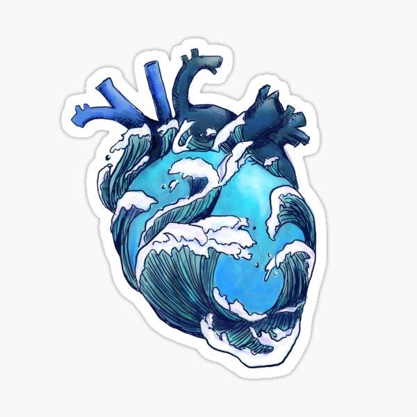 Bajo las olas Pegatina