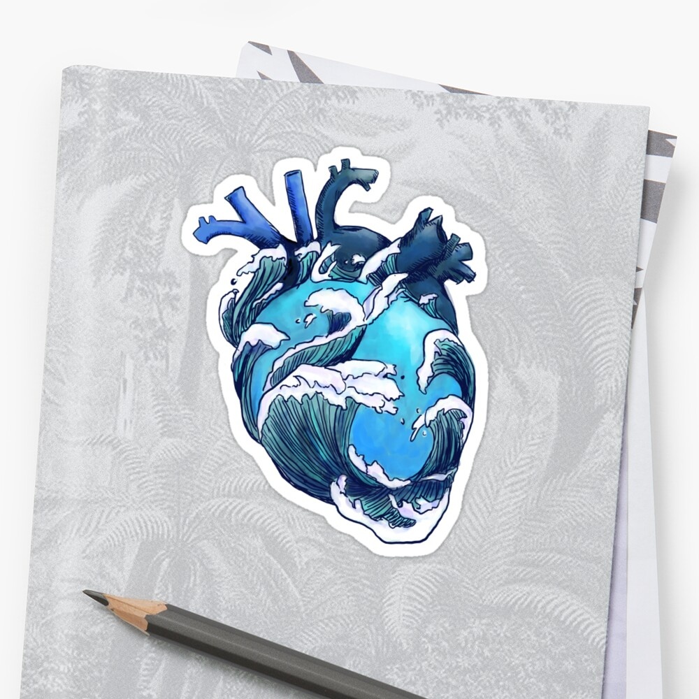 Beneath the Waves Sticker