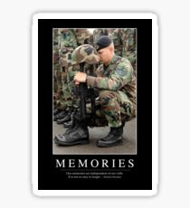 Memories: Inspirational Quote and Motivational Poster Sticker