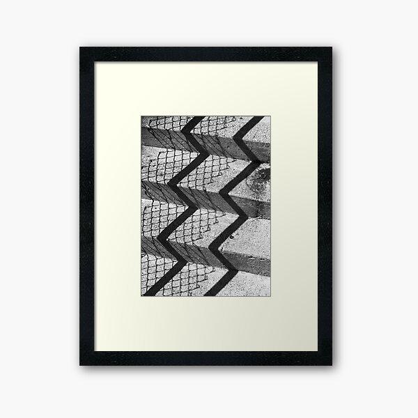 Walking Up The Fence Framed Art Print