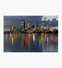 Perth City Skyline 2012 Photographic Print