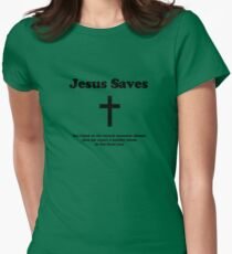 Jesus Saves Women's Fitted T-Shirt
