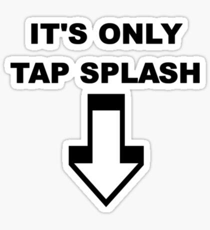 Tap Splash Sticker