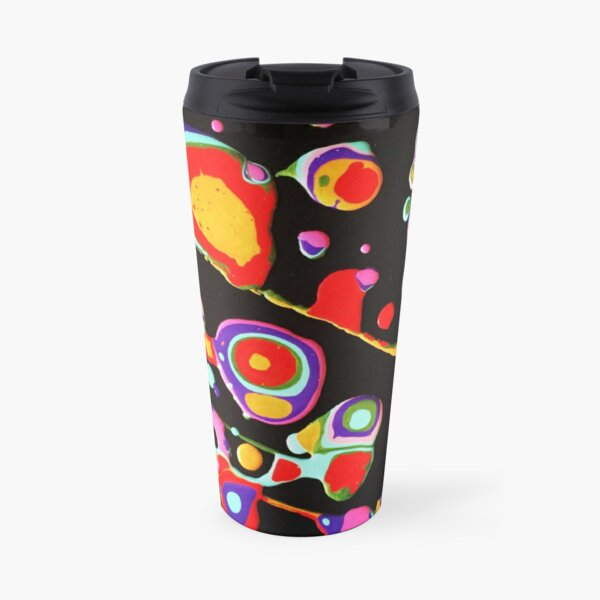 Modern Art Pouring Painting EMPOWER by Tessa Smits Travel Mug