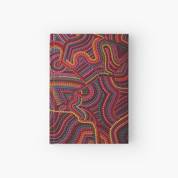 Abstract Dot Painting SELFLOVE by Dutch Artist Tessa Smits Hardcover Journal