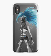 Rainbow Punk: Cybernetic Blue iPhone Case