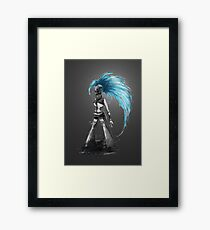 Rainbow Punk: Cybernetic Blue Framed Print