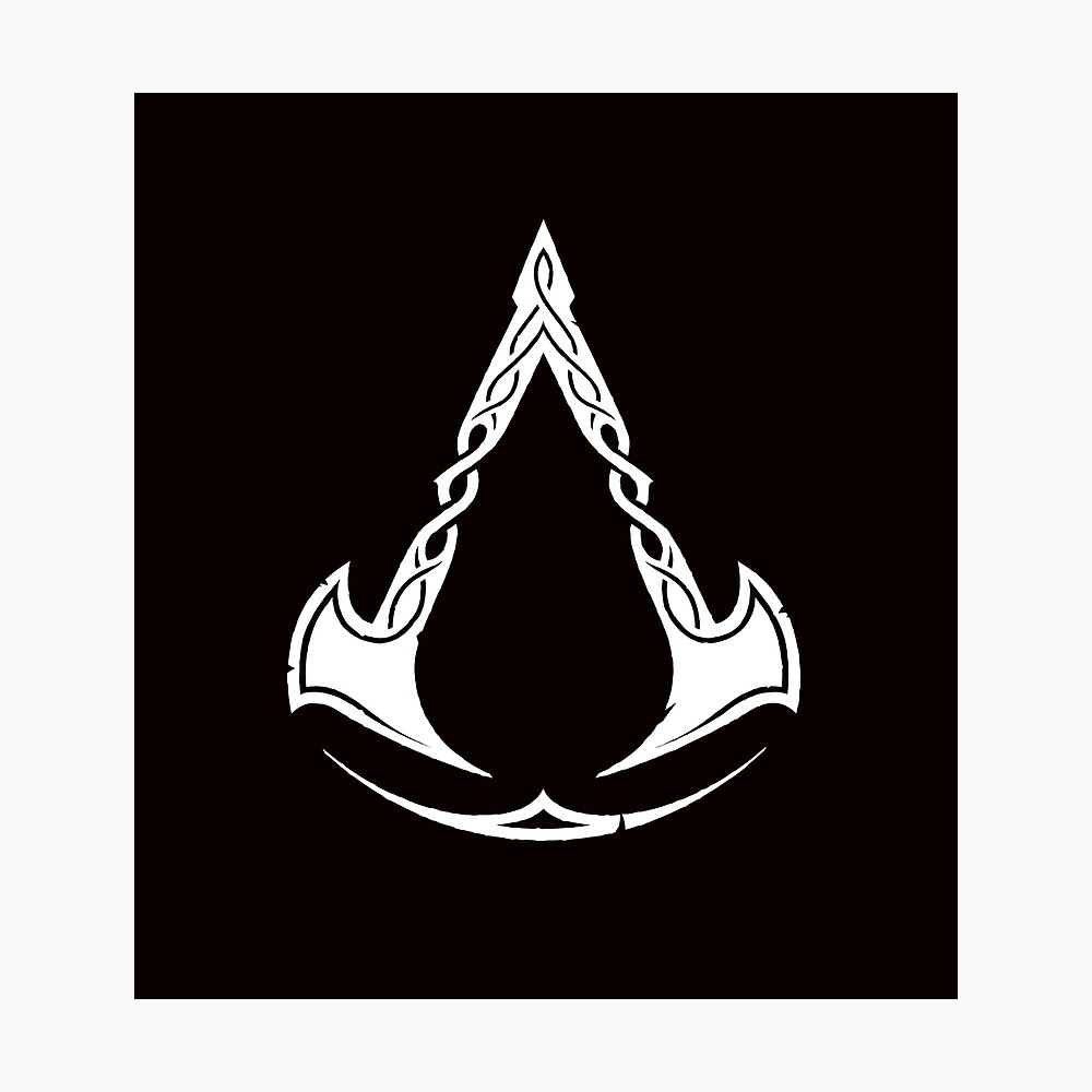 Assassins Creed Valhalla Symbol White Poster By Miroteiempire