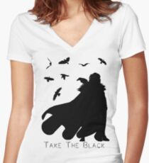 Take The Black Women's Fitted V-Neck T-Shirt