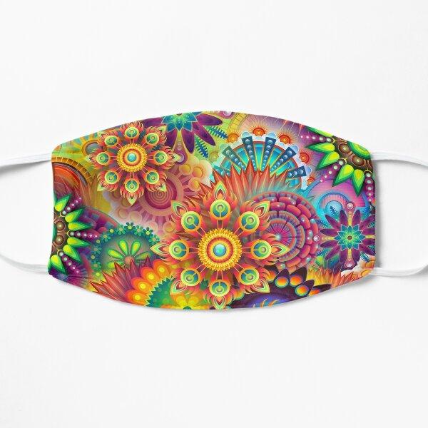 Face mask yoga pattern i colorful namaste design face mask msn Flat Mask