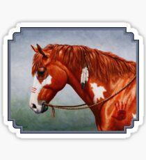 Native American War Horse Sticker