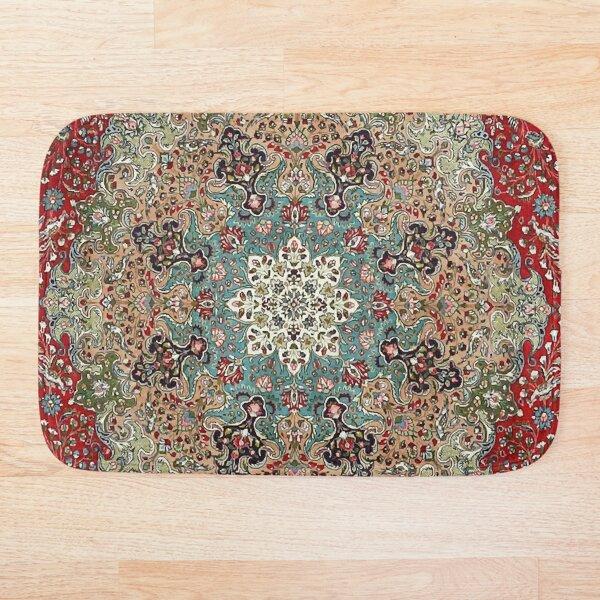 Vintage Antique Persian Carpet Print Bath Mat