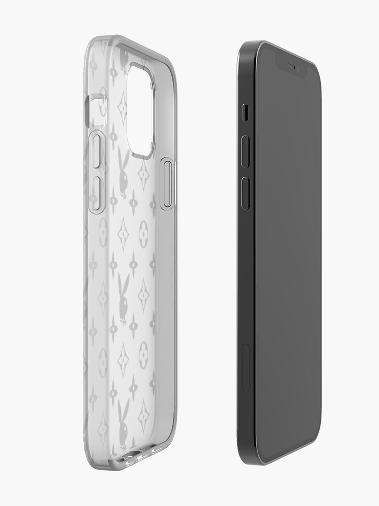 Alternate view of playboy logo black and white iPhone Case & Cover