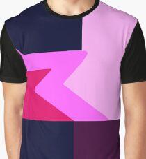 Camiseta gráfica Granate