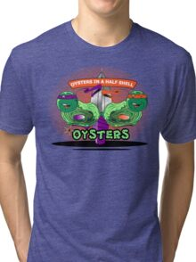 Oysters In A Half shell Alternate Tri-blend T-Shirt