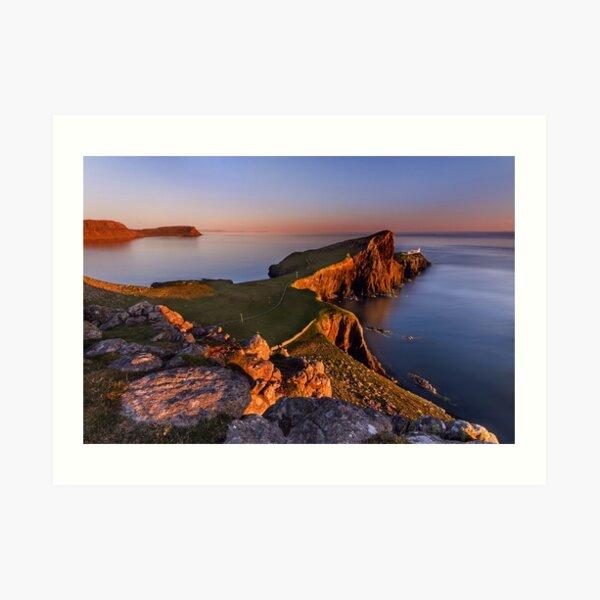 Neist Point Sunset Isle of Skye Scotland. Art Print