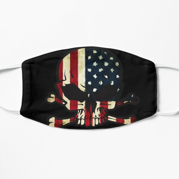 Crâne de patriote Masque sans plis
