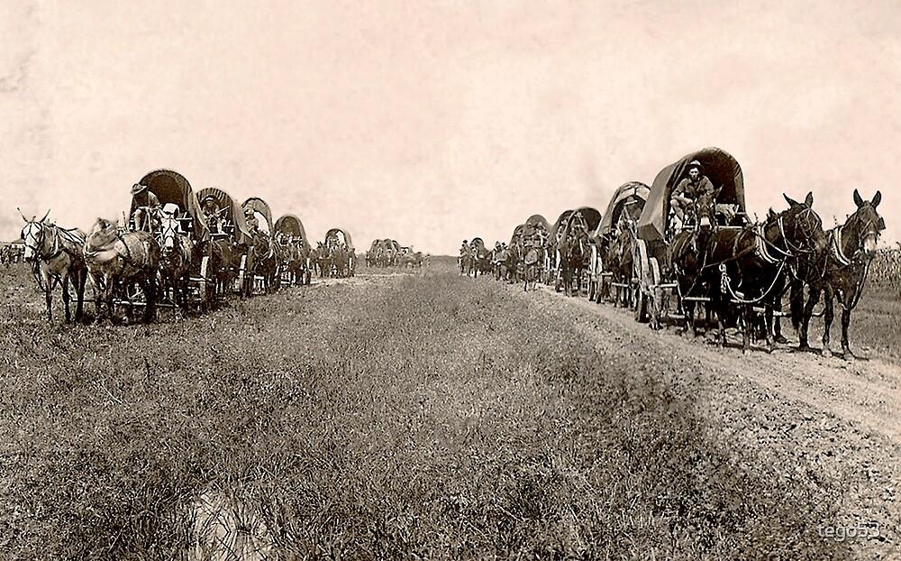 wagon train by tego53