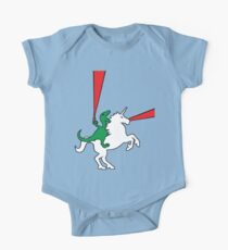 Body de manga corta para bebé Dinosaur Riding Unicorn