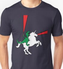 Dinosaur Riding Unicorn Unisex T-Shirt