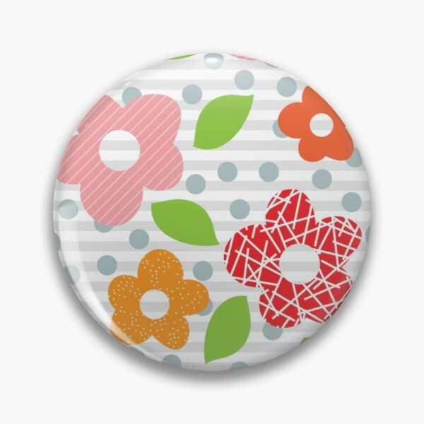 Retro Textured Floral Pin