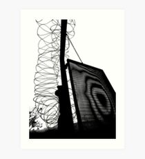 Behind the barbed wire 01 Art Print
