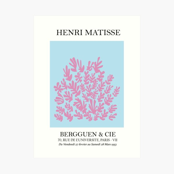 Henri Matisse - La gerbe - The Sheaf - Pink Art Print