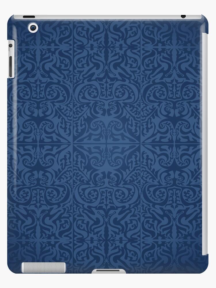 Etnic Pattern Blue by elangkarosingo