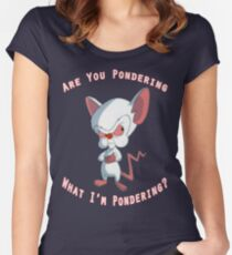 Pinky and The Brain - Pondering Women's Fitted Scoop T-Shirt
