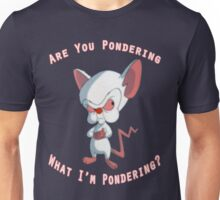 Pinky and The Brain - Pondering Unisex T-Shirt