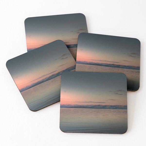 Sunset at Big Arm Bay Coasters (Set of 4)