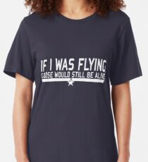 If I was flying... Slim Fit T-Shirt