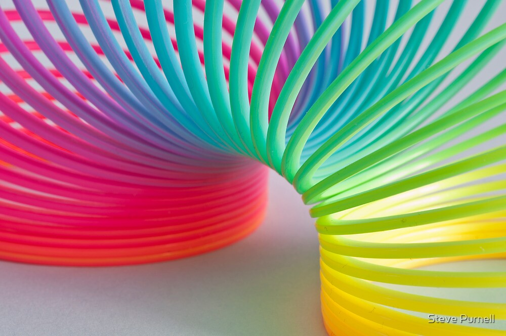 Quot Rainbow Slinky Quot By Steve Purnell Redbubble