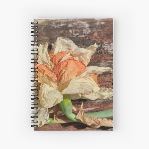 Drying Daffodil on a Railing Spiral Notebook