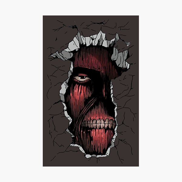 Attack on Titan: The Titan inside the Wall Photographic Print