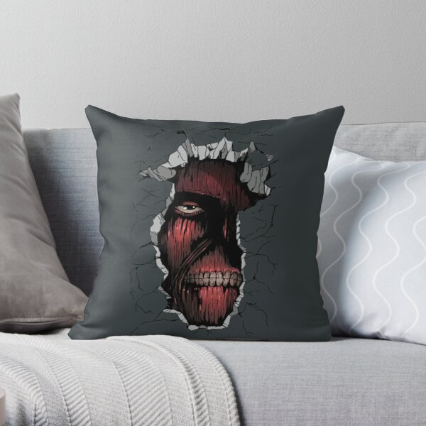 Attack on Titan: The Titan inside the Wall Throw Pillow
